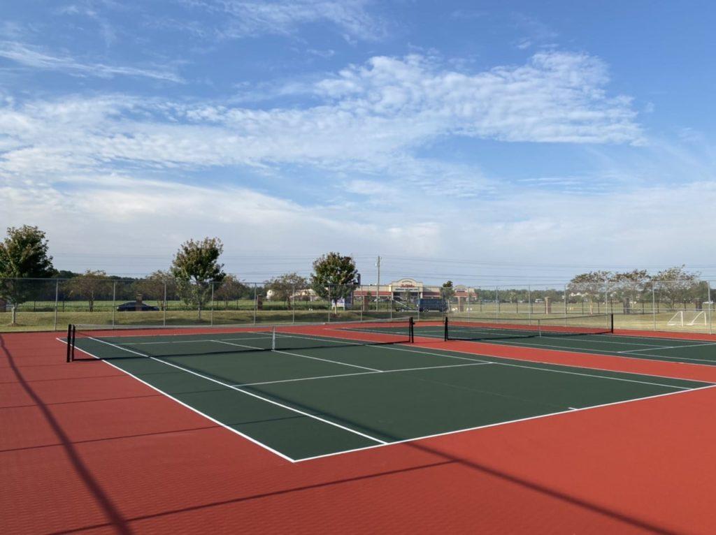 Tennis court resurfacing by North State Resurfacing in Pembroke NC